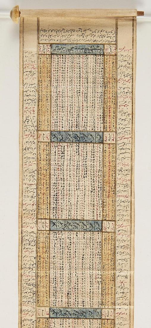 Early Middle Eastern Prayer Scroll - 4