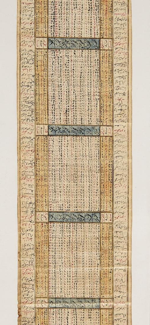 Early Middle Eastern Prayer Scroll - 5