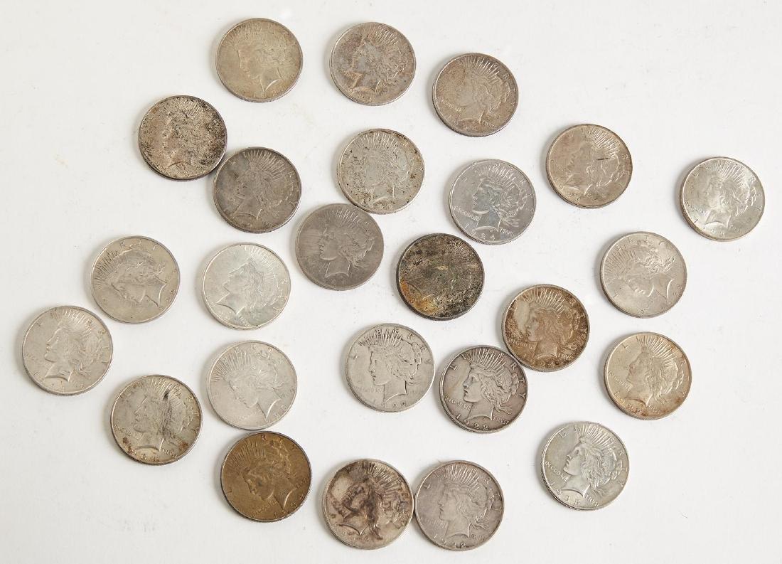 25 Peace Silver Dollars