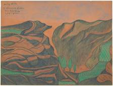 Joseph Yoakum - Holly Hills - Outsider Art