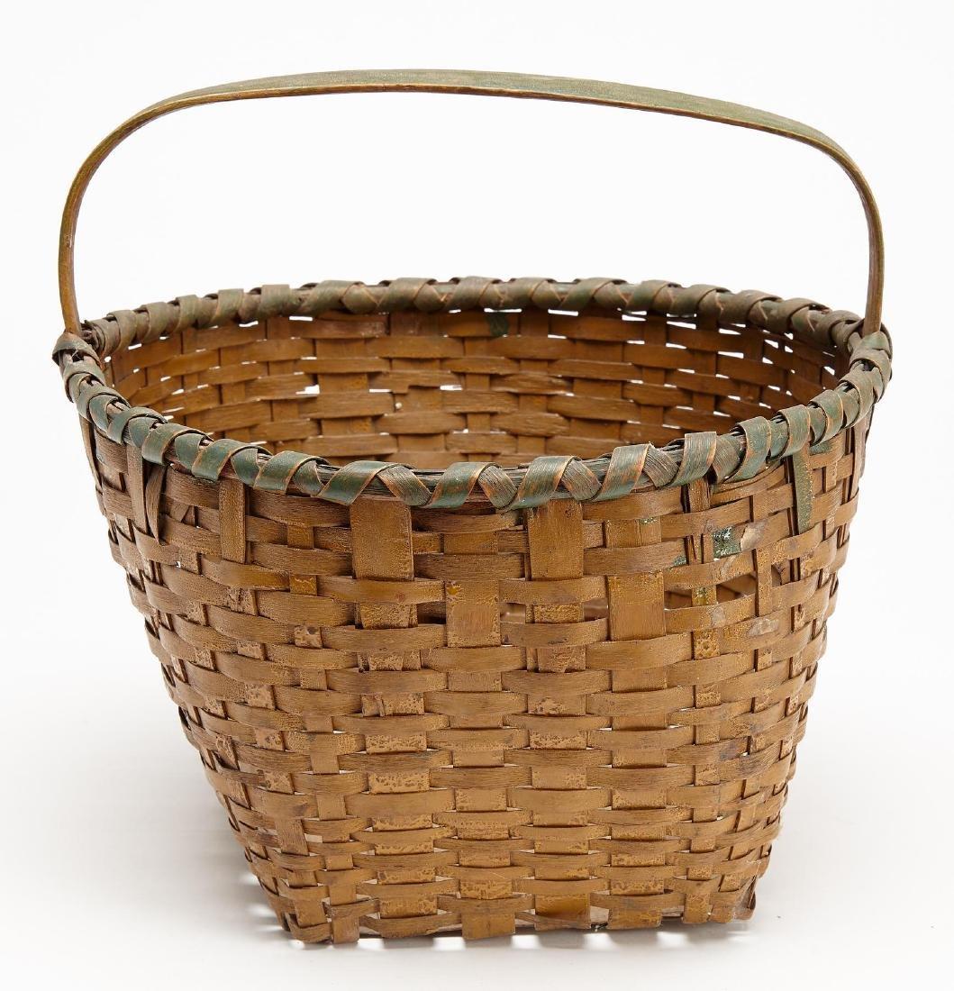 Fine Early  New England Painted Splint Basket