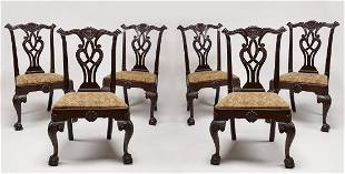 Set of 6 Wallace Nutting Chippendale Chairs