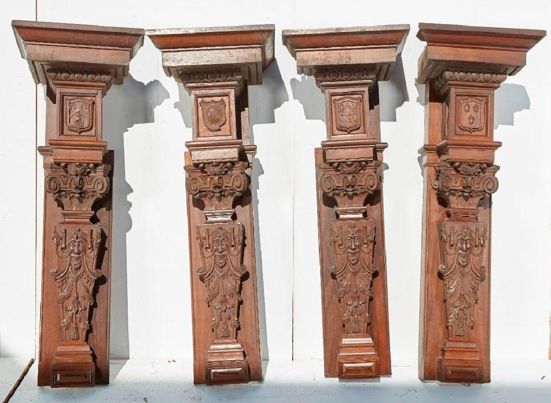 Brewster Mansion-4 Carved Interior Wall Pilasters