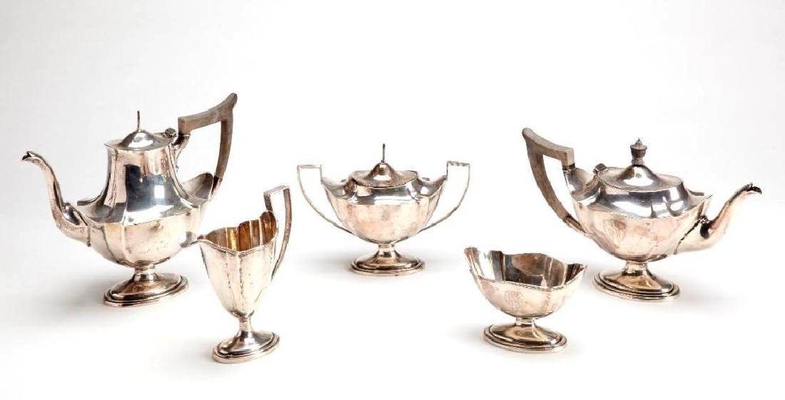 Sterling Silver 5 Piece Coffee and Tea Set