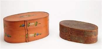 Two Antique Scandinavian Painted Brides Boxes