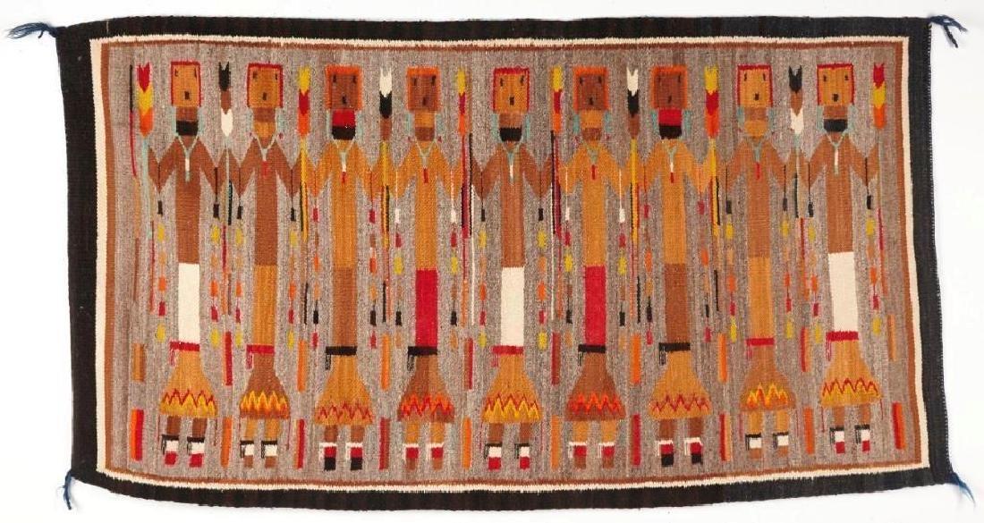 Vintage Navajo Yei Rug