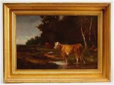 James M Hart Cows in Landscape