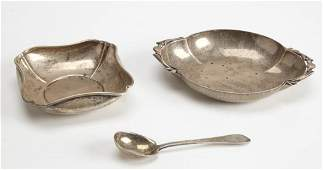 Two Wrought Sterling Silver Candy Dishes - Tiffany
