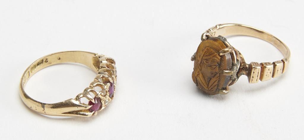 18K Gold Victorian Ladies Ring