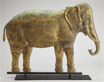 Rare JW Fiske ELEPHANT Weathervane