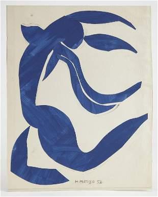 Henri Matisse -paper cut out -La Chevelure 1952