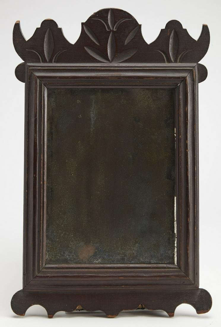Very Fine Carved and Painted Queen Anne Mirror