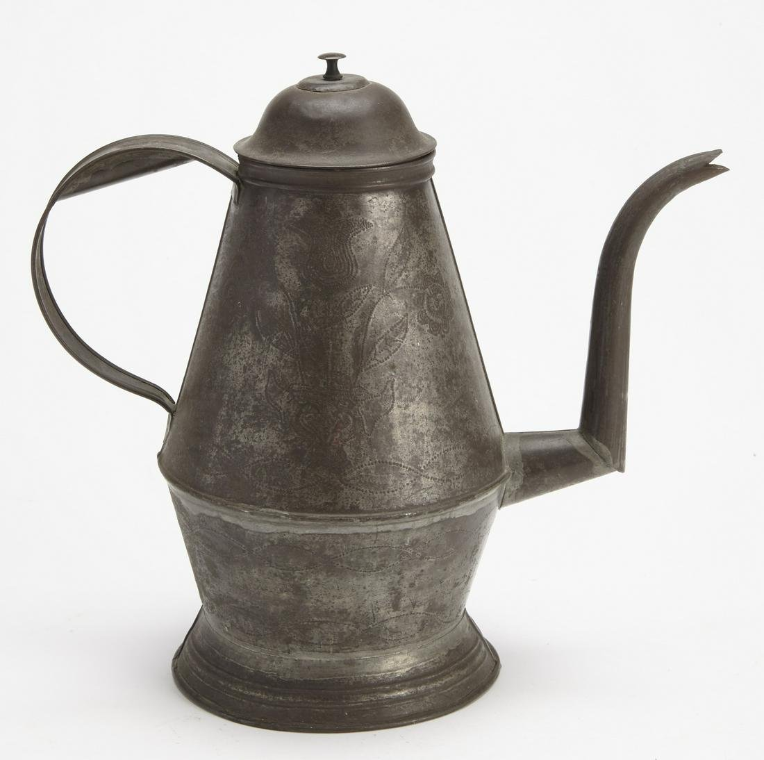 Berks County PA Punched Tin Coffee Pot
