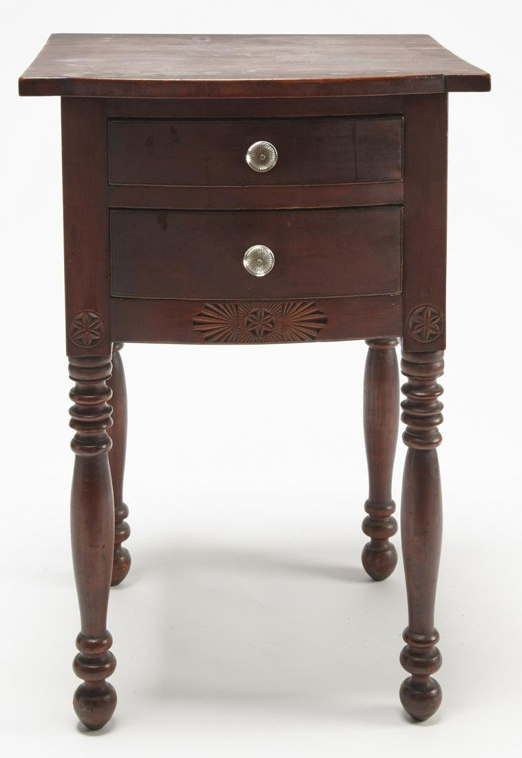 Fine Ohio Two Drawer Bow Front Stand