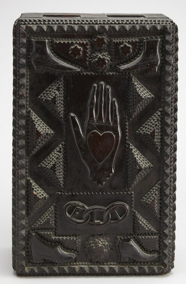 Rare Heart in Hand Odd Fellows Cabinet