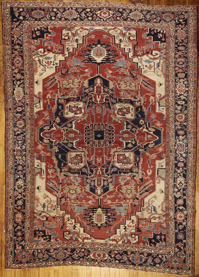 19th Century Serapi Oriental Carpet