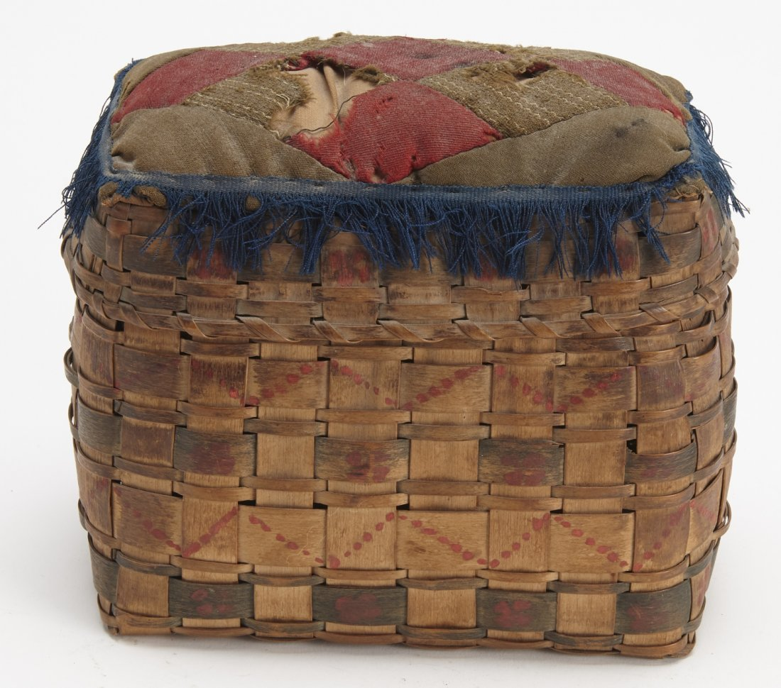 Indian Basket with Pin Cushion Top