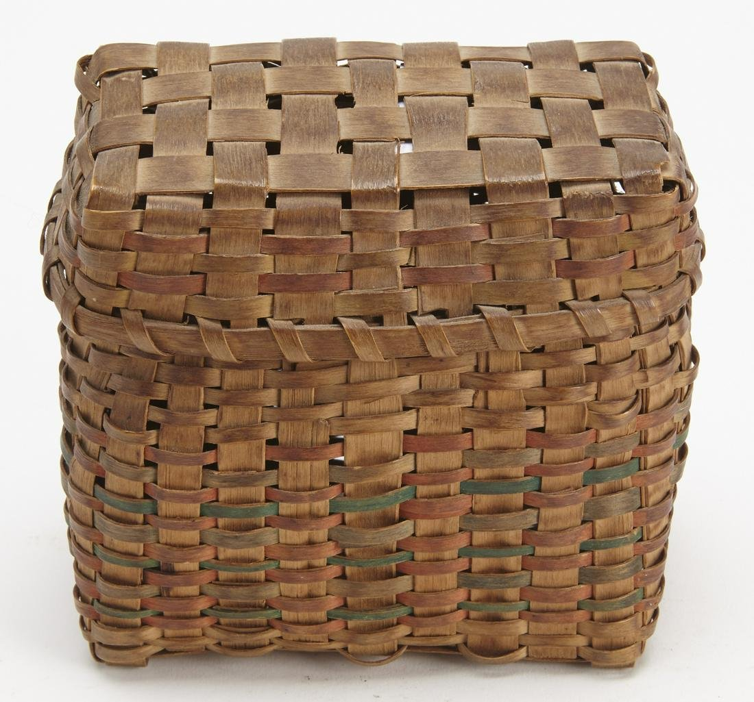 Small Indian Basket with Cover