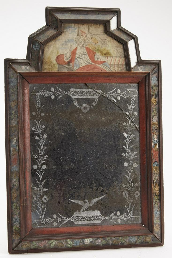 Early Courting Mirror with Etched Glass