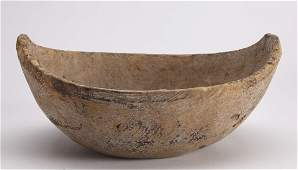Early Carved Burl Bowl