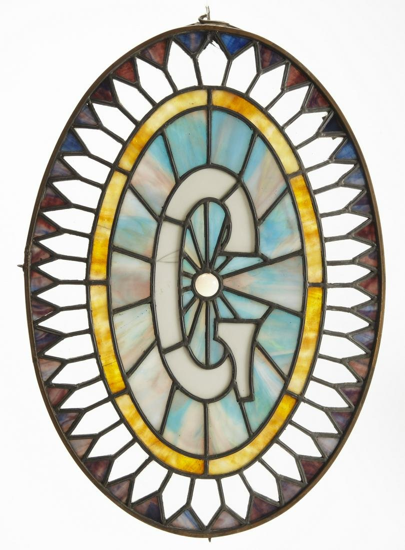 "Leaded Glass Fraternal ""Eye of God"""