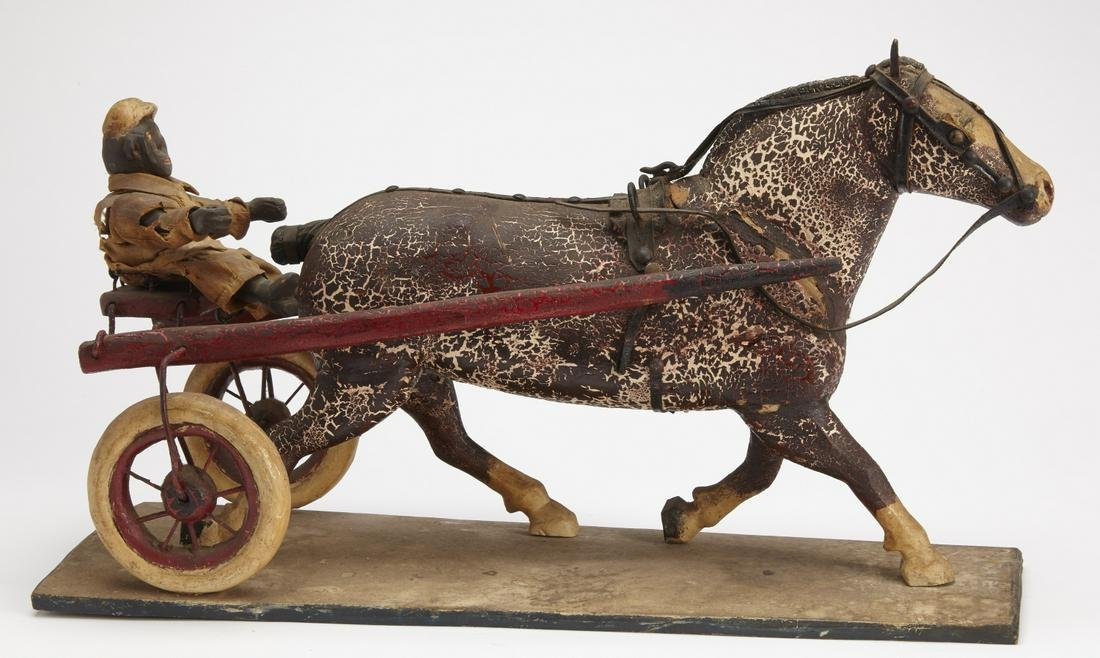 Folk Art Horse & Sulky with Driver