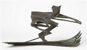 Robert Cook Bronze Sculpture of Downhill Skier