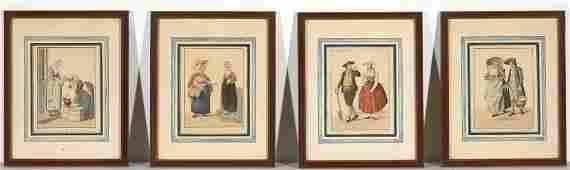 Four Framed Netherland Engravings  L Portman