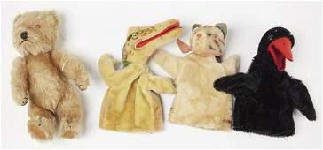 Steiff Puppets and Teddy Bear