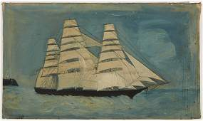 Primitive Clipper Ship Painting