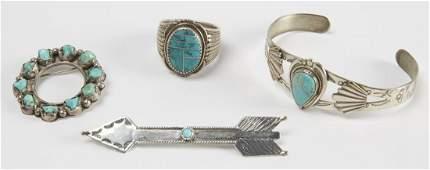 Four Navajo Jewelry Items