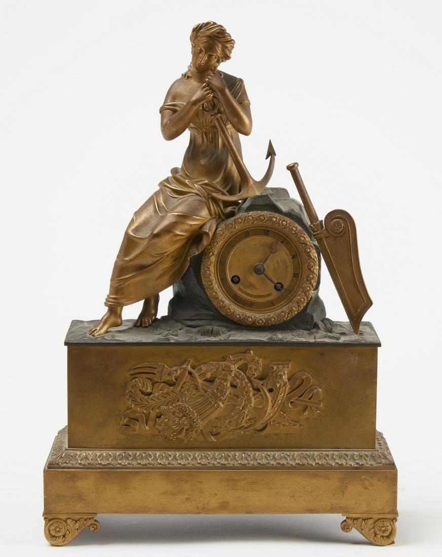 Bernard H. de la Marine Au Navre Bronze Clock