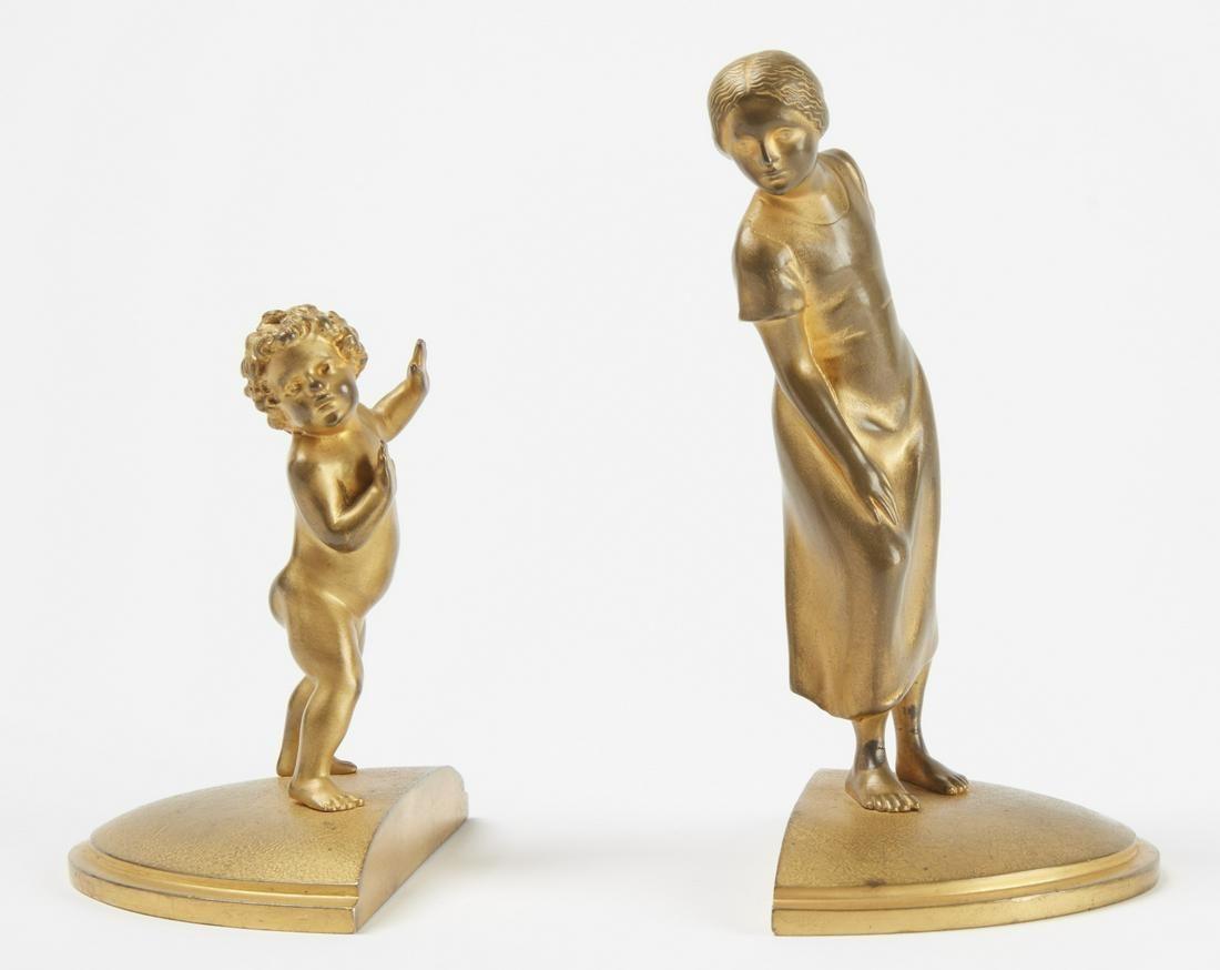 2 Viennese Gilt Bronze Figurines by Franz Gruber