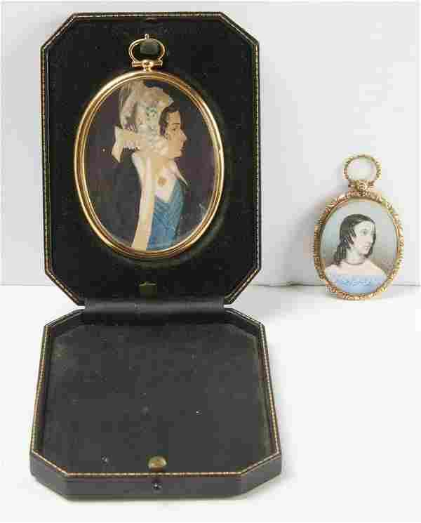 Two Miniature Portraits of Ladies