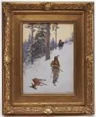 Henry Farny  Native American Hunter  dated 1902