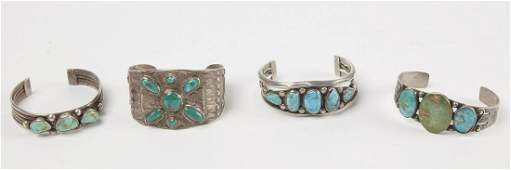 Four good Navajo Bracelets