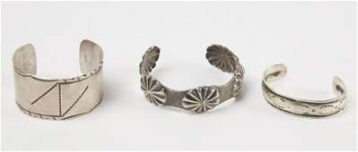 Three Older Navajo Bracelets