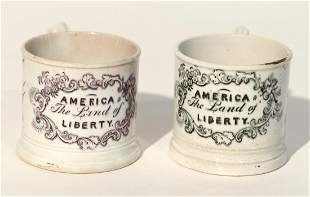 2 Child's Cups - America the Land of Liberty