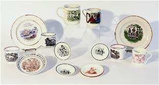 Lot of Early Children's Plates and Mugs