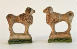 Pair of Chalkware Poodles
