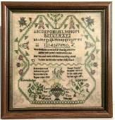 Ohio Needlework Sampler - 1839