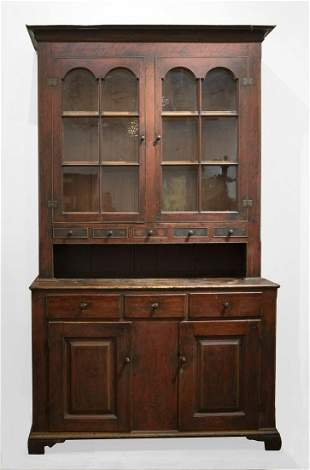 Early Painted Dutch Cupboard