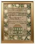 Needlework Sampler - Ann White Taunton - 1828