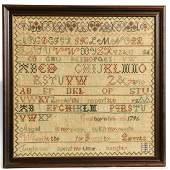 Needlework Sampler -Abigail Gool - 1810