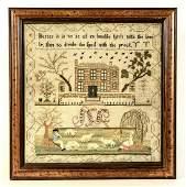 Needlework Sampler - Mary Bollt - 1796