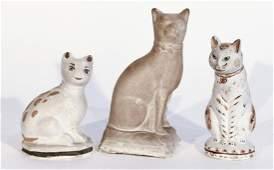 Three Chalkware Cats