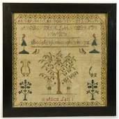 Adam and Eve Needlework Sampler