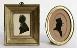 Two Miniature Silhouette Portraits