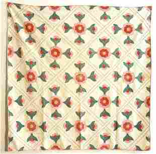 Pink and Green Tulip Quilt