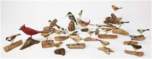 Lot of 21 Carved Birds by Frappier